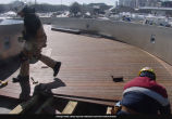 BP Bridge, Installing The Wooden Planking, February 13, 2004
