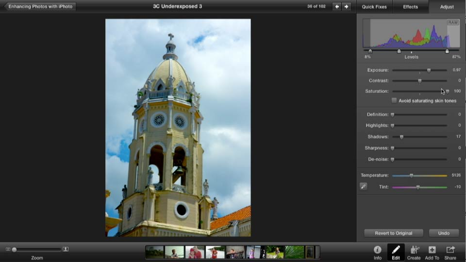 Enhancing Photos With IPhoto