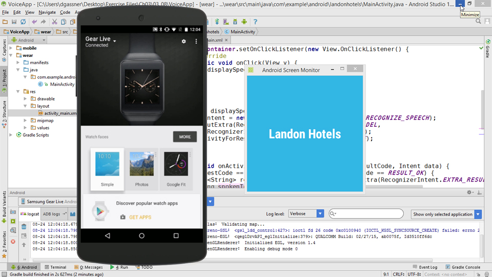 Building Apps for Android Wear Devices