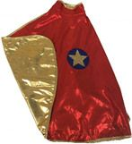 Great Pretenders Reversible Wonder Cape, Red and Gold, Size 5-6
