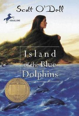 Book cover: Island of the blue dolphins