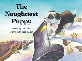 Book cover of The Naughtiest Puppy