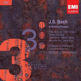 Cover of St Matthew Passion, J. S. Bach