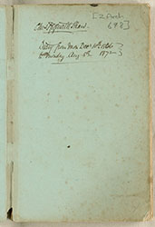 Diary From Mon. Decr. 10th 1866 to Monday Aug. 5th. 1872