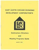 East Austin Chicano Economic Development Corporation's Contractors Directory and Housing Programs Guide